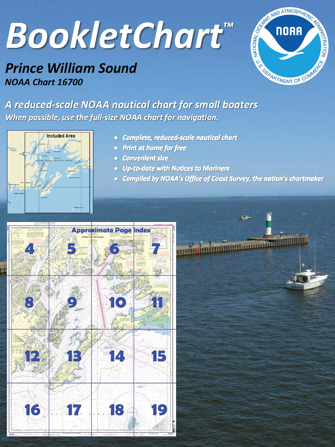 Navigational Chart 16700 Prince William Sound - Credit: NOAA
