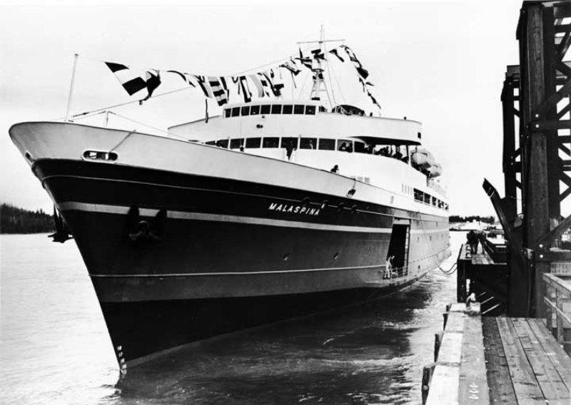 MV Malaspina in 1963 - Photo Credit: Alaska Division of Tourism