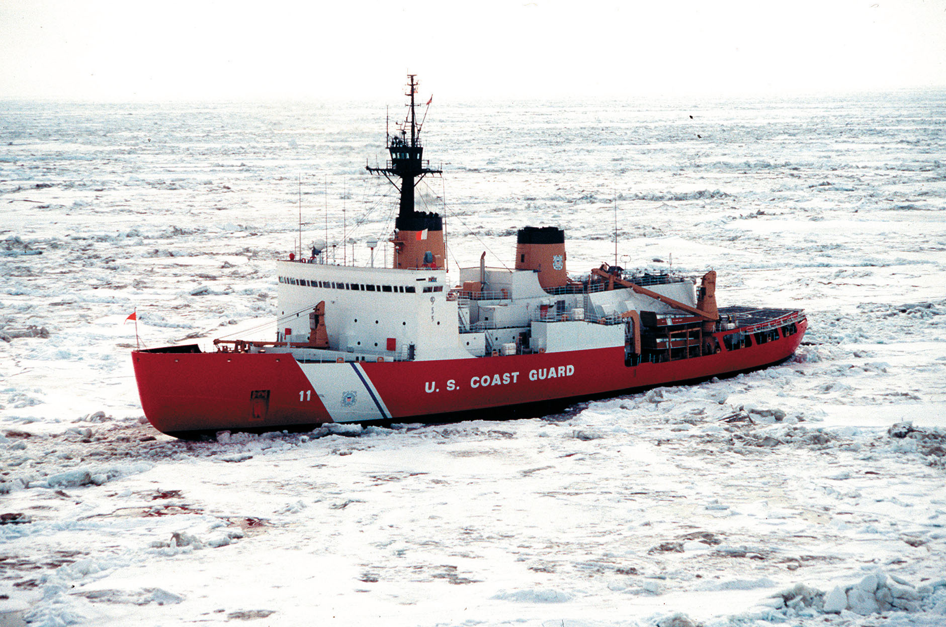 Coast Guard Icebreaker Polar Star ready for service: View of the Polar Star in the West Arctic during 1996 - USCG Photo by PA3 Andy Devilbiss