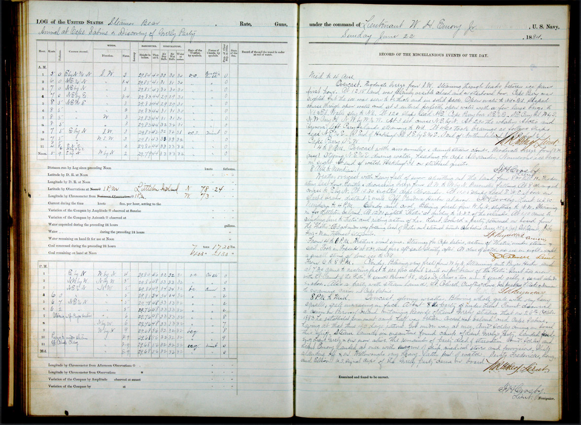 Logbook of Revenue Cutter Bear