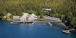 Aerial View of Waterfall Resort Alaska
