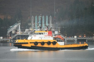 Crowley Prevention and Response Tug Alert in Port Valdez - Photo by Alan Sorum