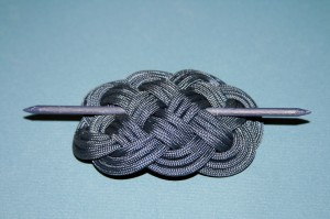 Navy Blue Paracord Ocean Plait Barrette
