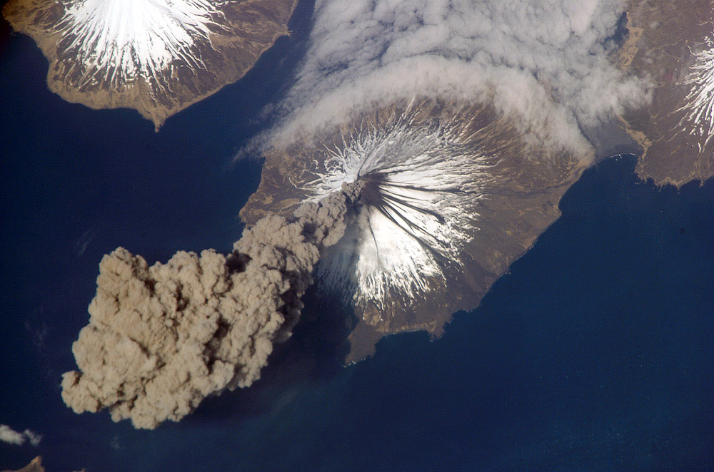 Erupting Cleveland Volcano, Alaska. Credit: NASA