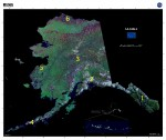 Landsat Orthorectified Map of Alaska: USGS/NASA