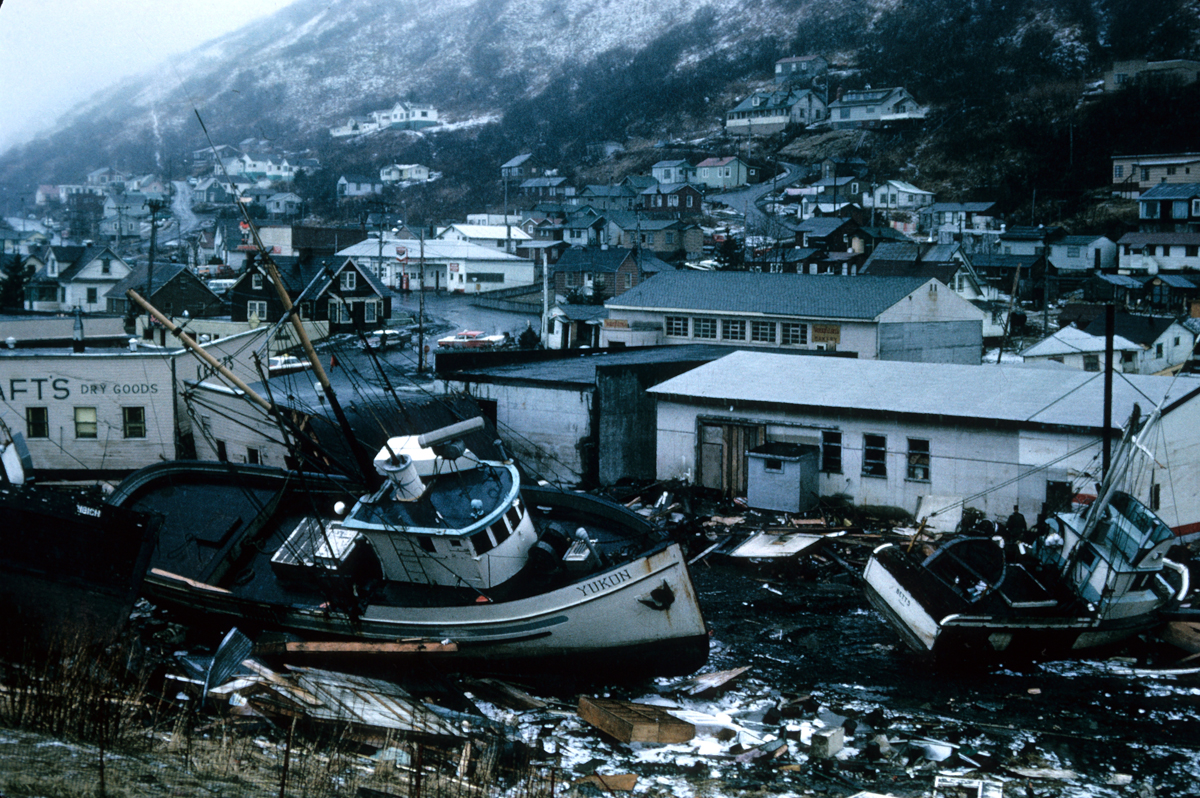 Alaska Earthquake Information Center - Alaska 1964 Good Friday Earthquake Damage - Photo by NOAA