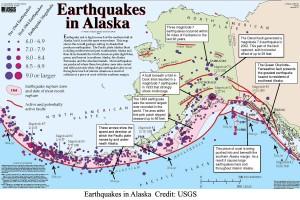 Earthquakes in Alaska - Credit: USGS