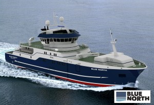 Sustainable Fishing Boat Blue North