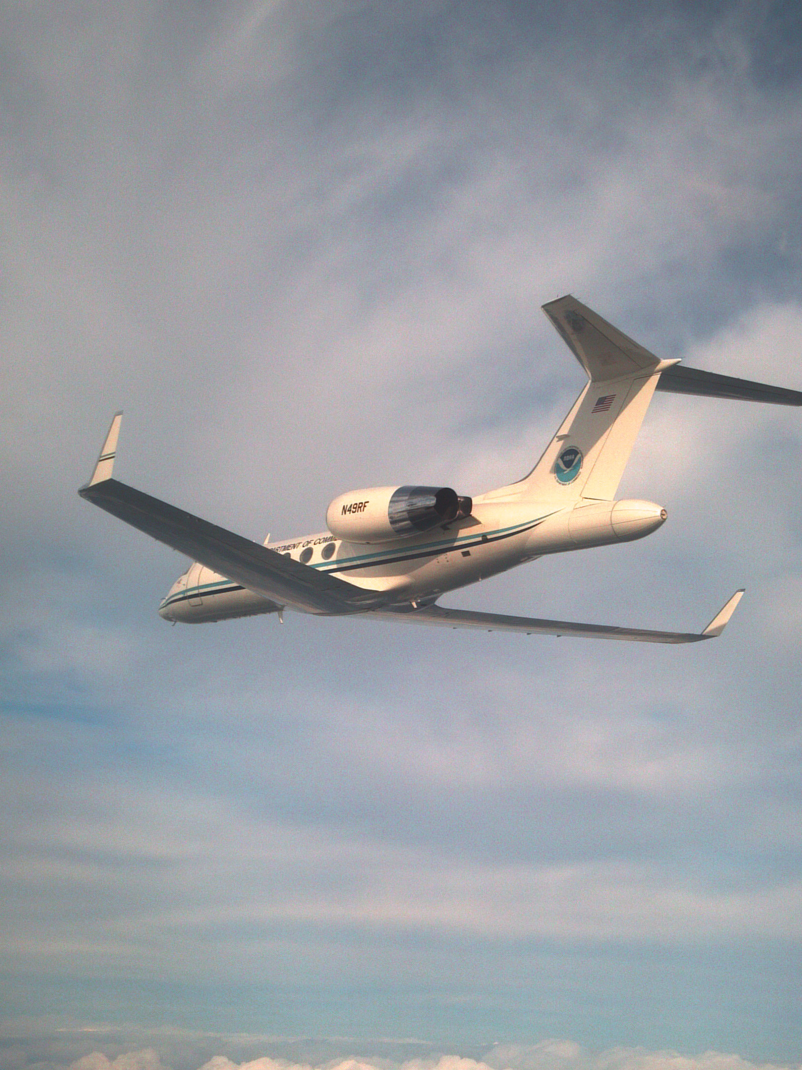 NOAA Gulfstream IV in Flight - Photo by NOAA