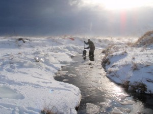 Prepping stream for sampling after a oil in Adak, Alaska – Photo by NOAA