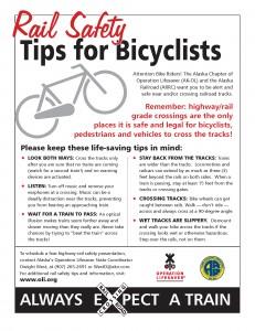 Alaska Railroad Bicycle Safety Tips