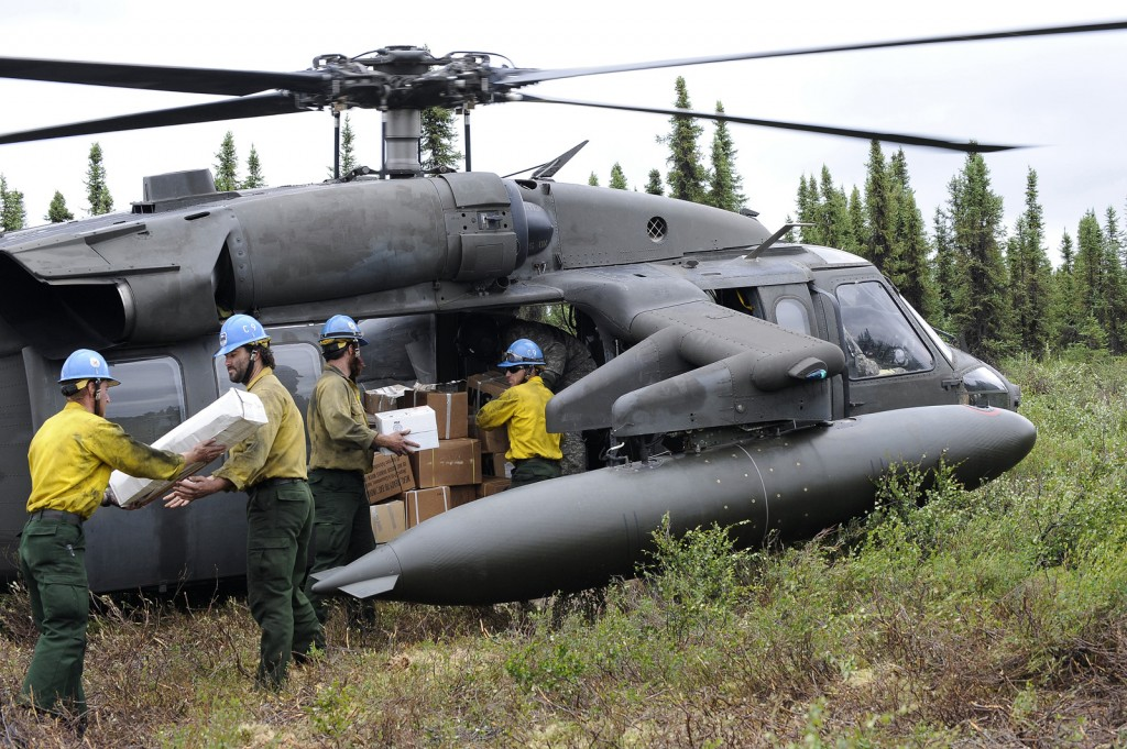 Alaska Army Guard Supports Wildfire Suppression Efforts - Photo by USAF/Percy Jones