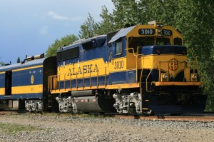 Alaska Railroad GP 40-2 No. 3010 - Photo by Alan Sorum