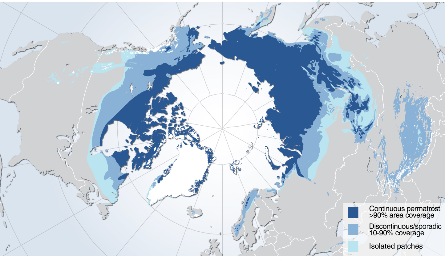 Permafrost Coverage in Northern Hemisphere