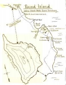 Round Island Site Sketch - ADF&G