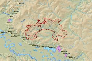 Map of Tetlin Jct Ridge Fire - Alaska Interagency Coordination Center
