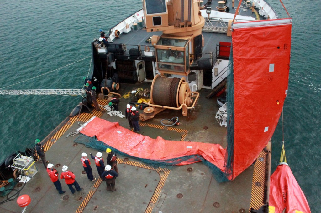Coast Guard Conducts Spilled Oil Recovery System Training Near Homer